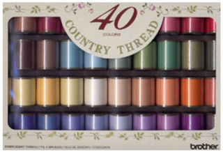 Brother Country Embroidery Thread Set Matt Finish (40 colours)
