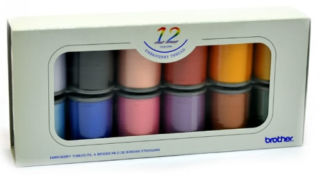 Brother Satin Finish Embroidery Thread Set (12 colours)