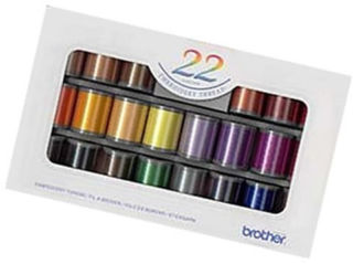 Brother Satin Finish Embroidery Thread Set (22 colours)
