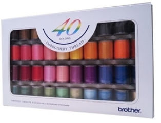 Brother Satin Finish Embroidery Thread Set (40 colours)