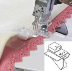 Janome 1200D Lace Attachment Guide H-1