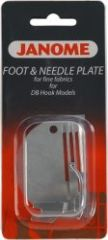 Janome Straight Stitch Foot and Needleplate for fine fabrics