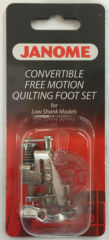 Janome Convertible Free Motion Quilting Foot Set (Cat B)