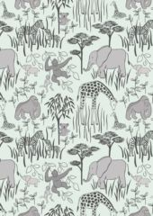 Lewis & Irene Fabric - Animal parents with babies (A214)