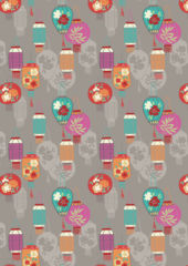 Lewis & Irene Fabric - Lanterns