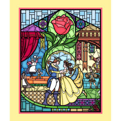 Beauty & The Beast Stained Glass Panel