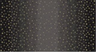 Makower - Ombre Snowflakes Black
