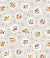 Studio-e Fabric - Circled Forest Animals