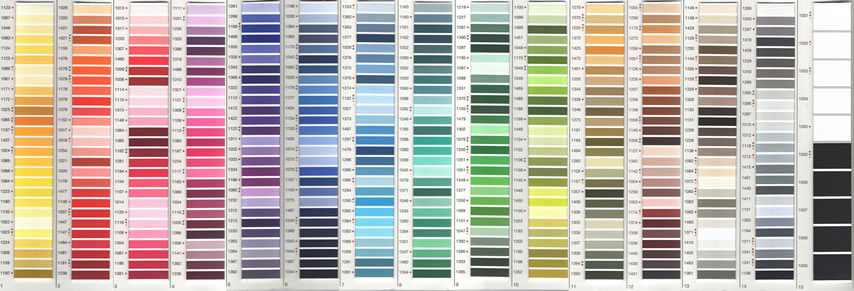 Madeira Shade Card Small 388 Shades