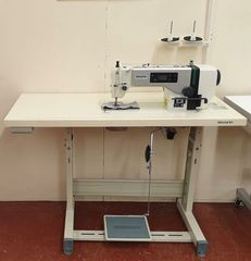 Zoje ZJ-A6000-G lockstitch machine with economy stand and table top