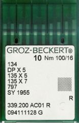 Groz Beckert - 134(R) Industrial Sewing Machine Needle (Size 100)