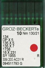 Groz Beckert - 134(R) Industrial Sewing Machine Needle (Size 130)