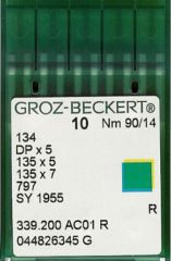 Groz Beckert - 134(R) Industrial Sewing Machine Needle (Size 90)