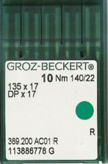 Groz Beckert - 135x17 Industrial Sewing Machine Needle (Size 140)