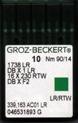 Groz Beckert - 1738LR (16x230RTW) Leather Point Industrial Sewing Machine Needle (Size 90)