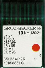 Groz Beckert - 16x231 Industrial Sewing Machine Needle (Size 130)