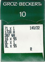 Groz Beckert - 16x231 Industrial Sewing Machine Needle (Size 140)