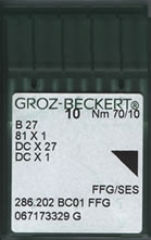 Groz Beckert - B27 FFG/SES Ballpoint Industrial Overlock Machine Needle