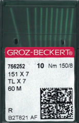 Groz Beckert 151x7 (60M) Industrial Sewing Machine Needles (Size 150)