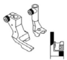 Industrial Sewing Machine Left Hand Piping Feet (Left Outer Toe) for Heavy Duty Walking Foot Machines