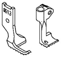 Industrial Sewing Machine Binding Feet for Walking Foot