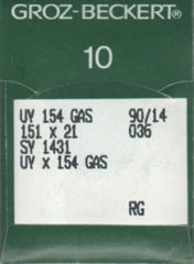 Groz Beckert - UY154GAS Curved Overlock Machine Needle (Size 90)