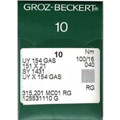Groz Beckert - UY154GAS Curved Overlock Machine Needle (Size 100)