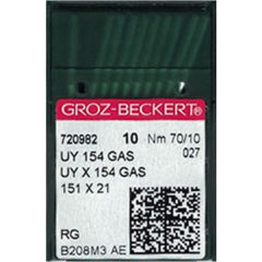 Groz Beckert - UY154GAS Curved Overlock Machine Needle (Size 70)