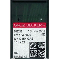 Groz Beckert - UY154GAS Curved Overlock Machine Needle (Size 80)