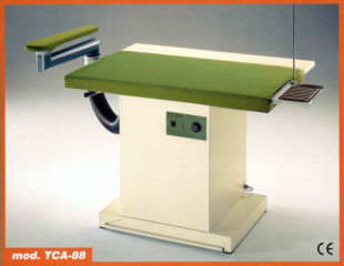 Casoli TCA88 rectangular type heated vacuum table with sleeve arm