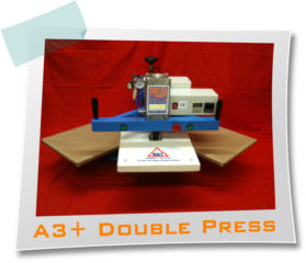 Pressmech A3+ DOUBLE HEAD Heat Press with Pneumatic Operation